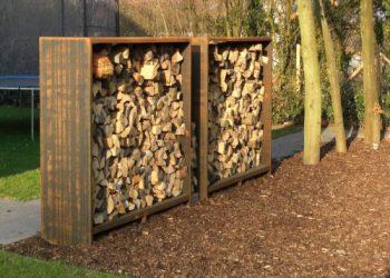Grupe Schweisstechnik: Corten Holzunterstand
